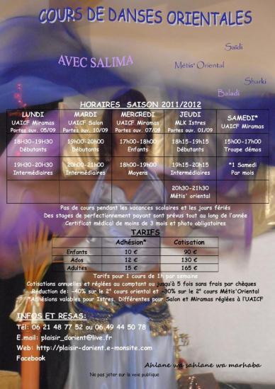 affiche générale 2011 2012 plaisir d'orient 2