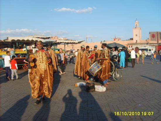 Musiciens de la place Jemaa Al Fna