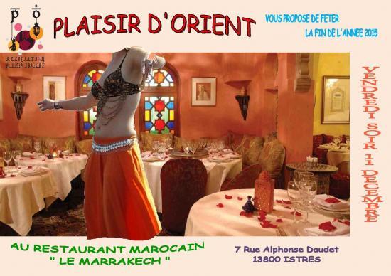 Affiche soiree fin annee 2015 le marrakech